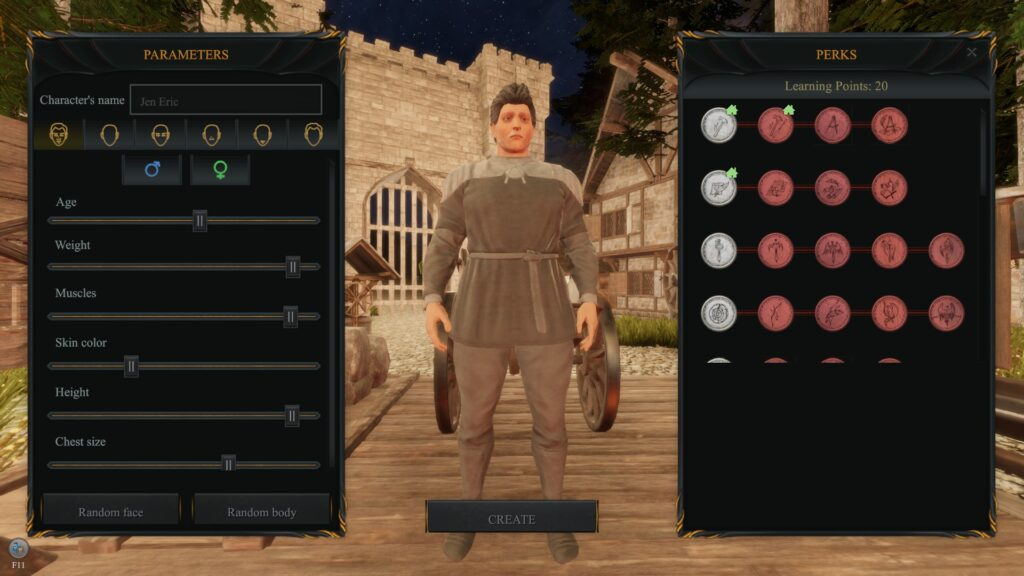 Character Customization screenshot for KINGDOMS