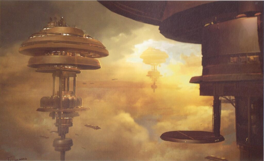 Concept art of the unfinished game Star wars knights of the old republic 3