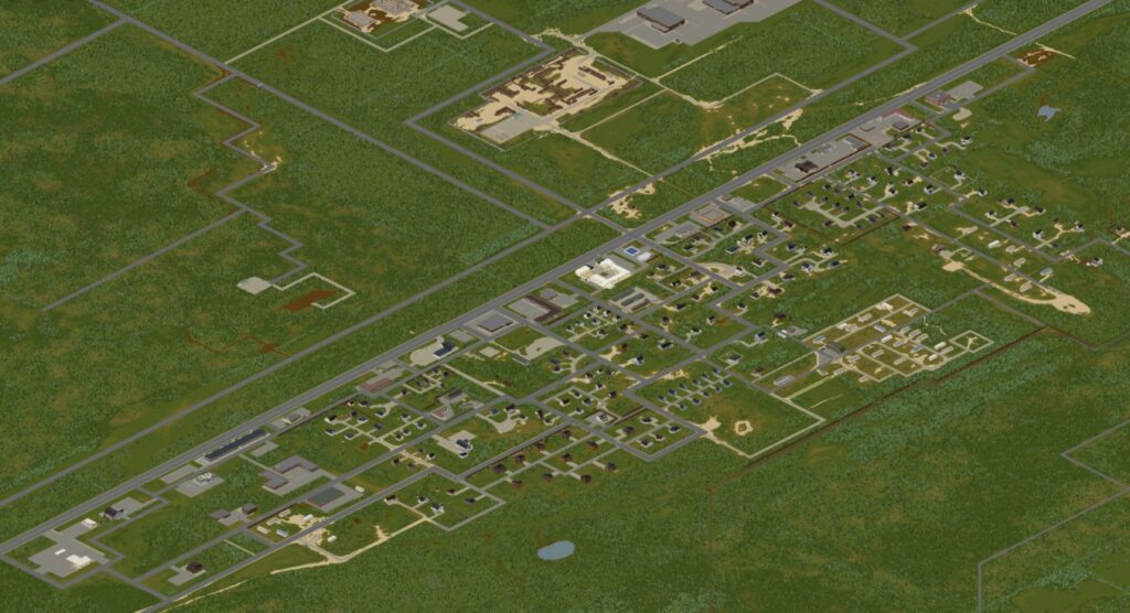 Project Zomboid Map of Muldraugh from build 41