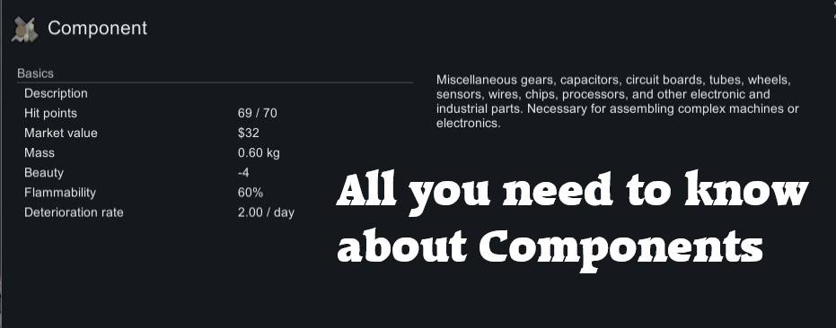 Rimworld components information sheet