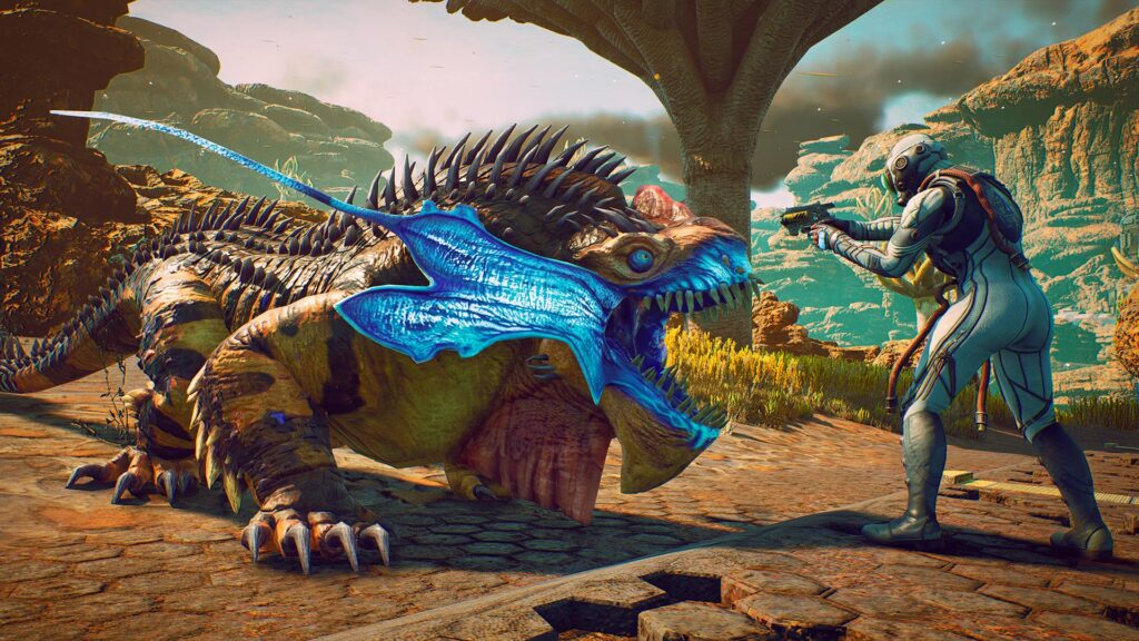 Mega Raptidioon creature from the game the outer worlds