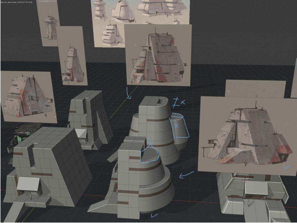 Building concept art in Kenshi 2