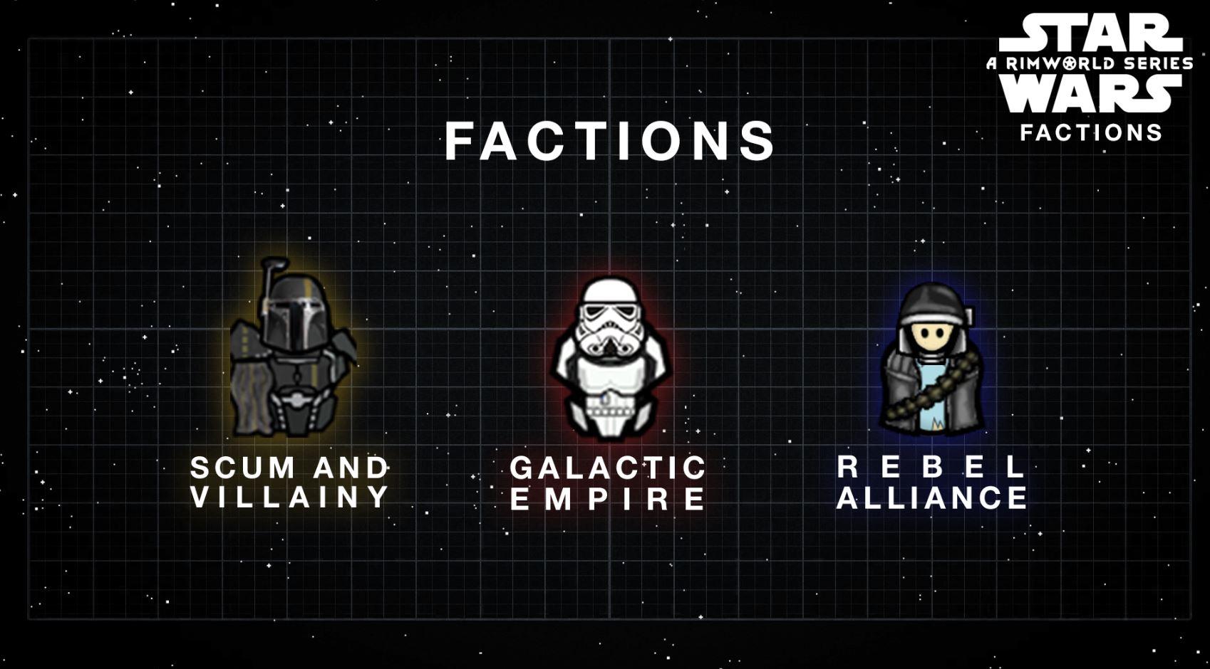 adding star wars factions to rimworld