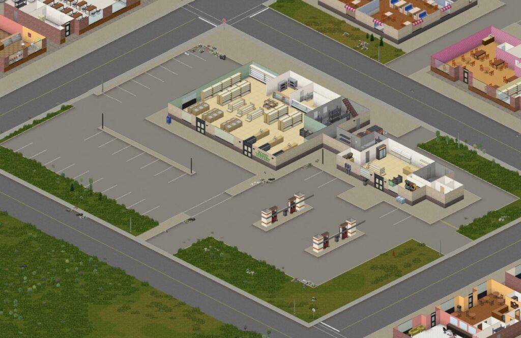 Project Zomboid March Ridge gas station screenshot