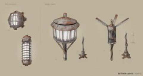 Early concept art for some objects in Kenshi 2