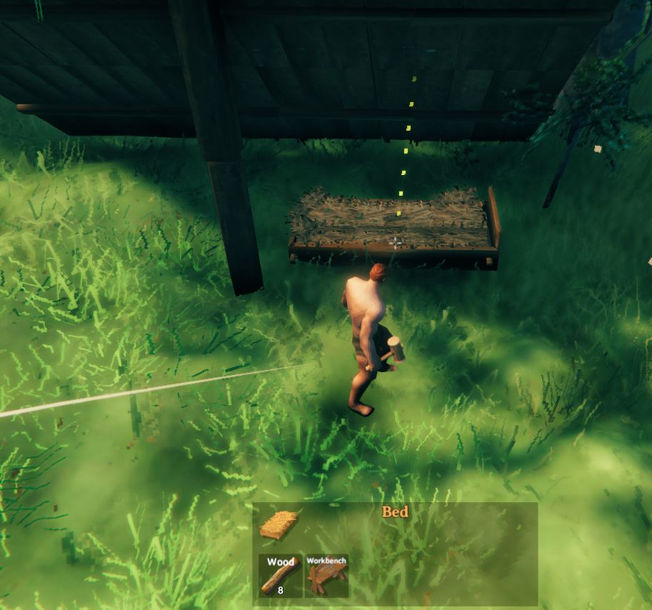 Place a bed to use it as a spawn point in Valheim