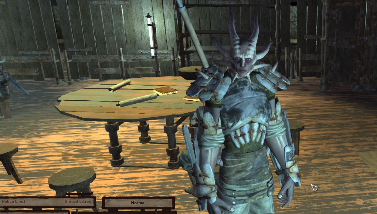 The police chief in Kenshi where you can turn in bounties. AI cores can get you as much money as bounties