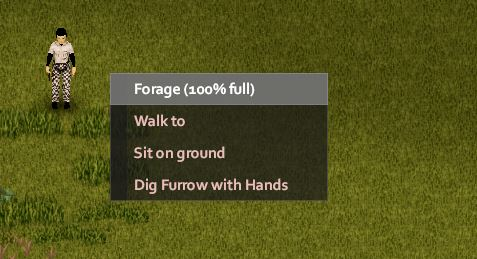 How to forage in Project Zomboid with menu
