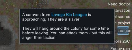 Slaver caravan arrived at the colony - Rimworld
