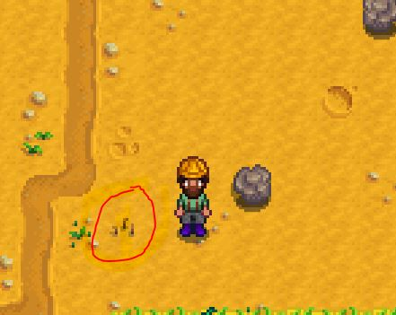 How to find clay in Stardew Valley method 2: worms
