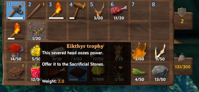 The Eikthyr Trophy description in Valheim