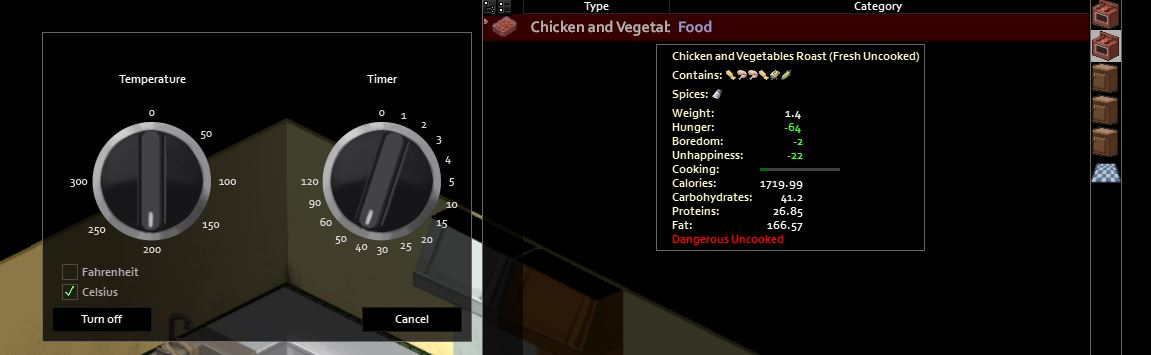 How to cook in Project Zomboid Chiicken Roast
