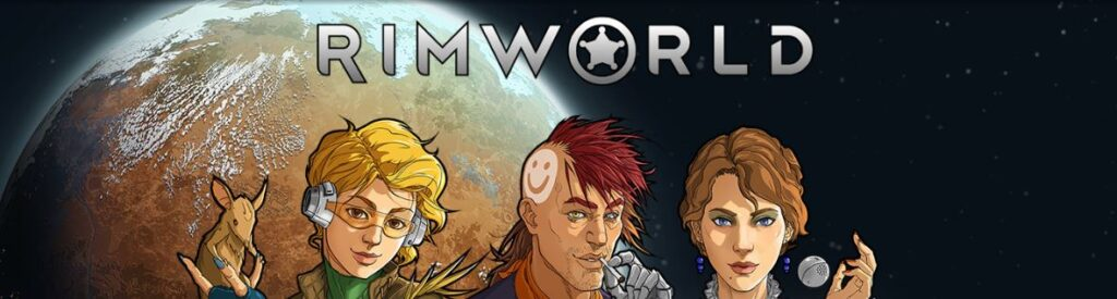 A banner image for Rimworld for games like Kenshi post