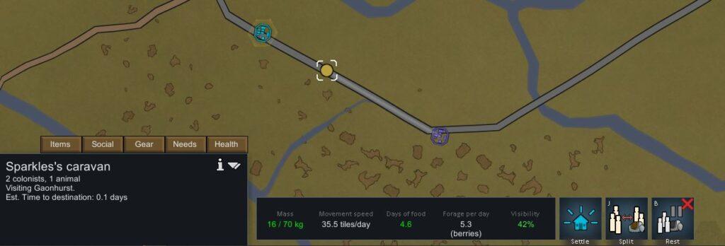 Paso 7. Supervisar el progreso de una caravana en Rimworld
