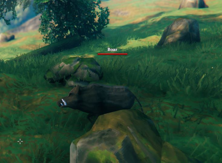 A boar from the game Valheim