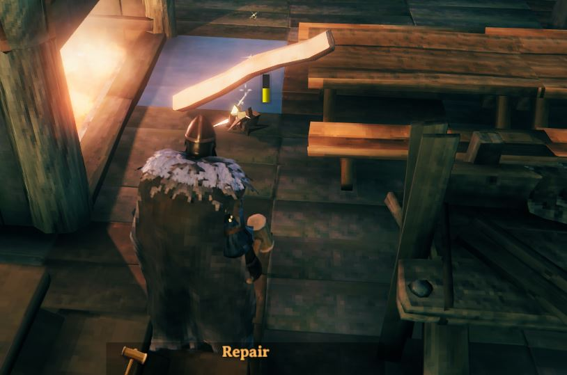 Raven throne destroyed by hammer