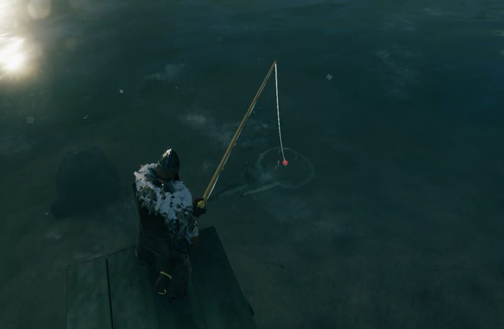 Trying to get the fish to bite in valheim