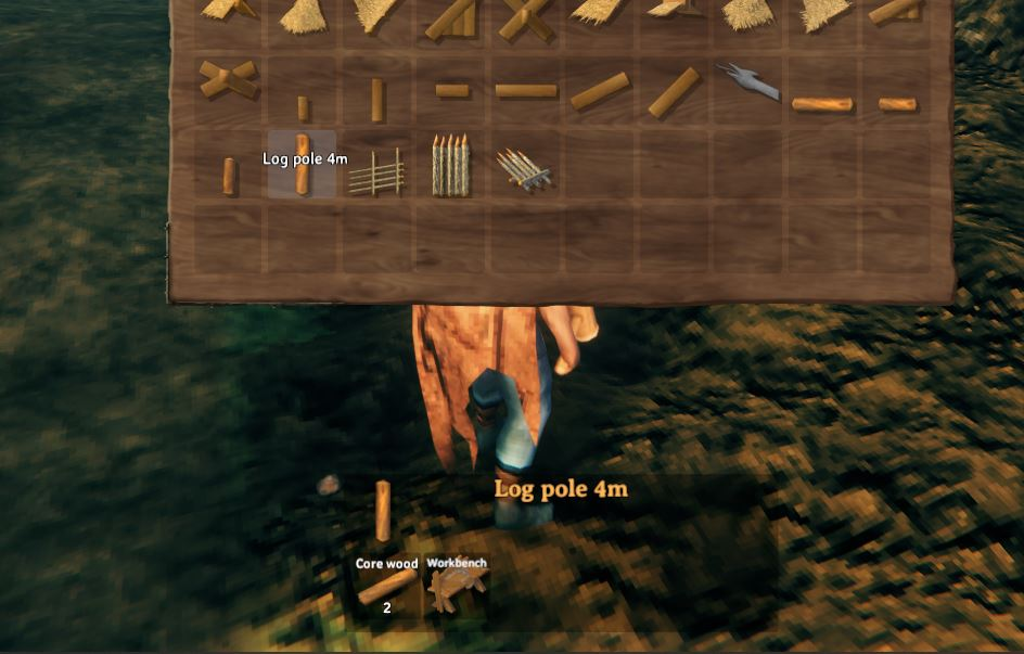 Building with Core Wood in Valheim