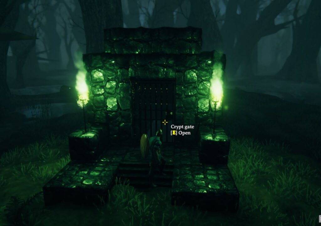 a sunken crypt in valheim will lead you to iron
