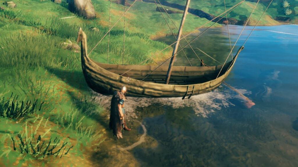 Dry Docking a boat in Valheim so it doesn't float away