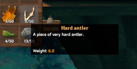 craft an antler pickaxe to break rocks