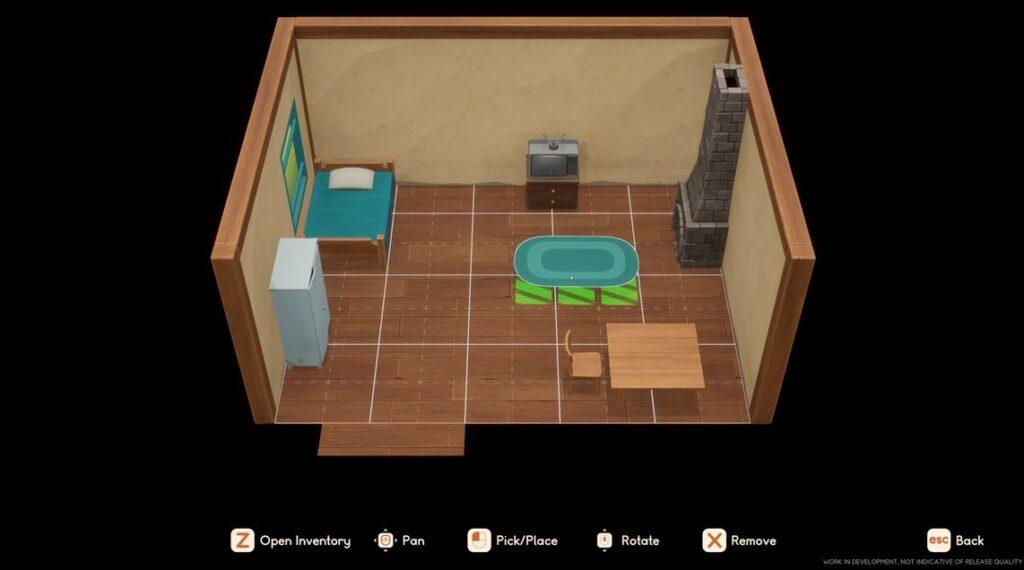 house customization screenshot in coral island