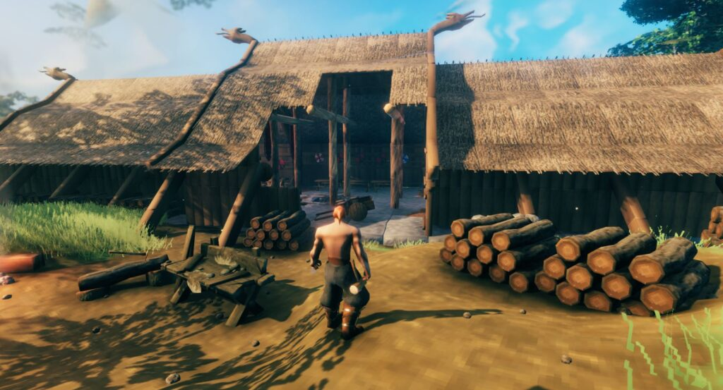 Building and crafting in valheim