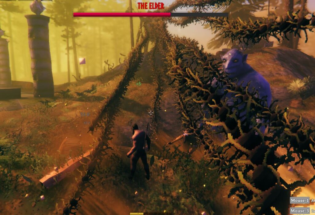 The Elders second attack is a ranged attack in Valheim