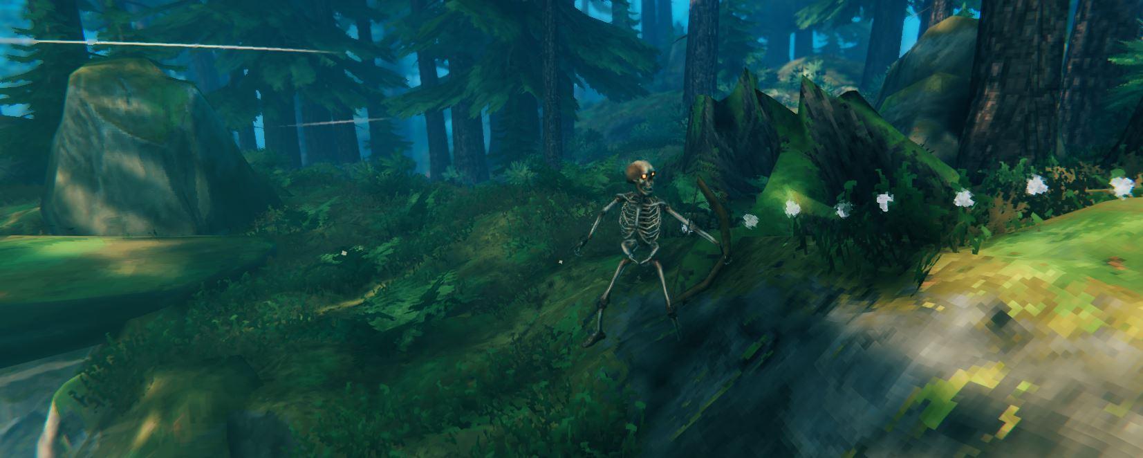 Bone fragments from skeleton archer in valheim