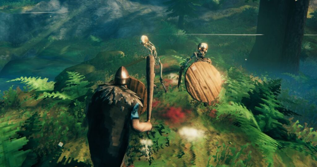 Skeletons will drop bone fragments when defeated in Valheim