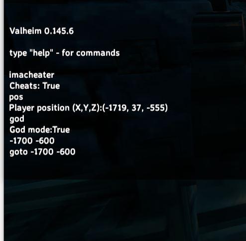teleporting using cheats in valheim