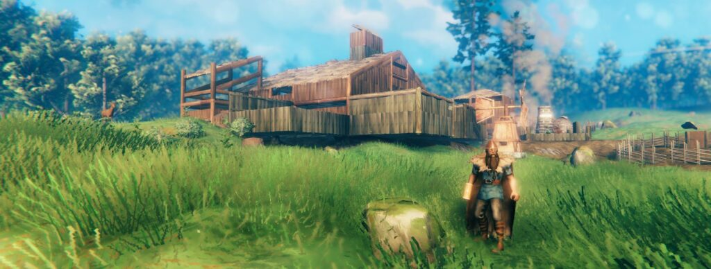 building a house, longhouse or mansion in Valheim