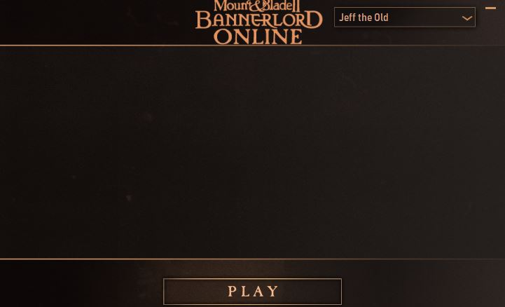 A screenshot of the Mount and Blade 2 Bannerlord online launcher