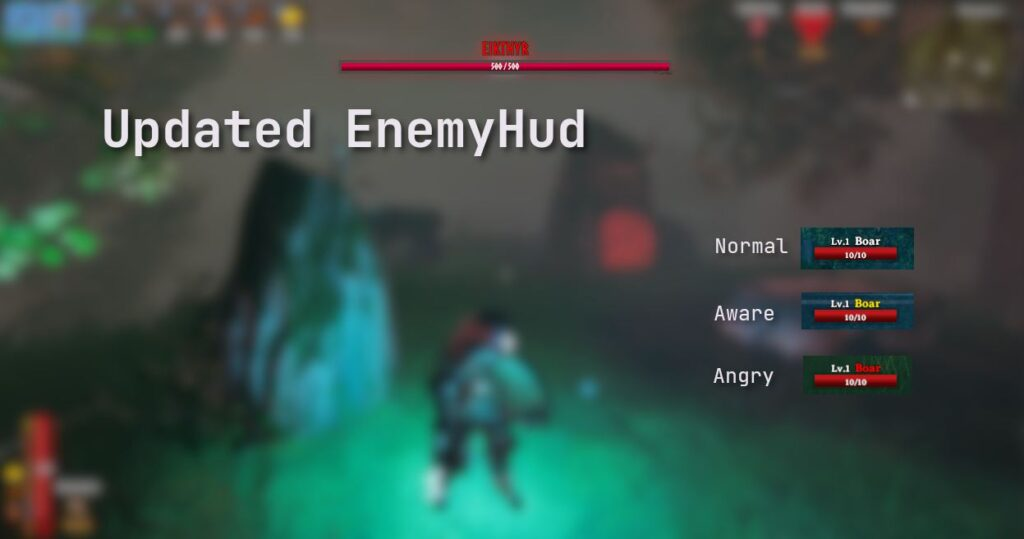 The BetterUI mod in Valheim changes the awareness indicators in-game