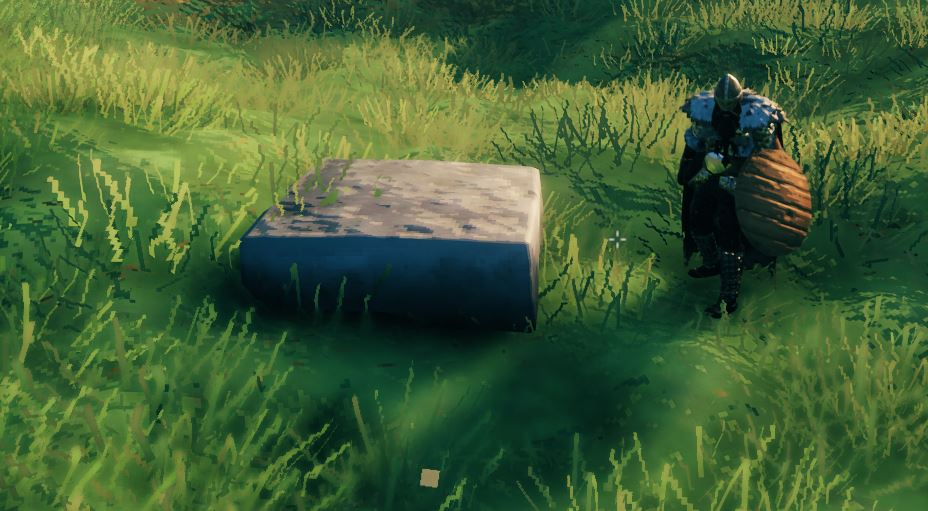 A stone floor in Valheim for building stone houses and castles