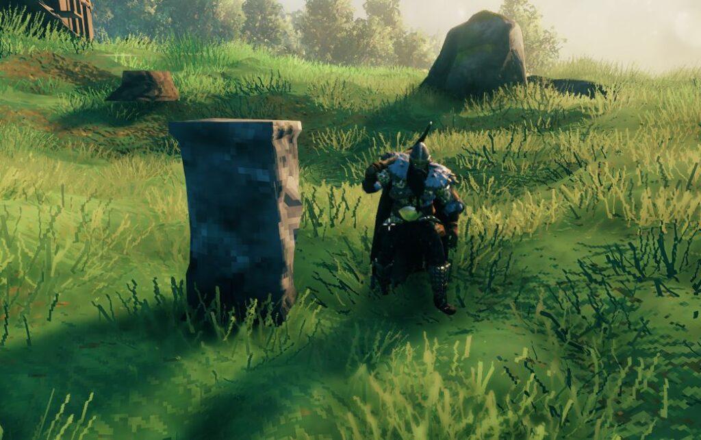 the stone pillar in-game in Valheim