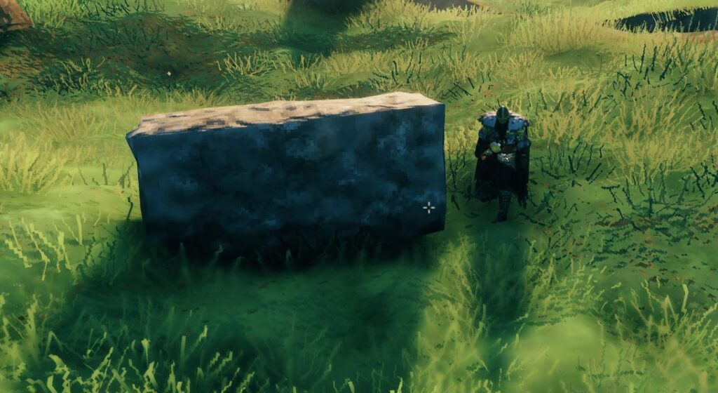 building a stone wall in valheim