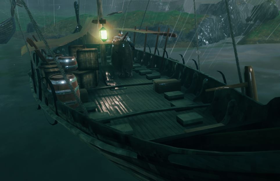 showing the objects aboard the fourth ship in the game, the trailer ship