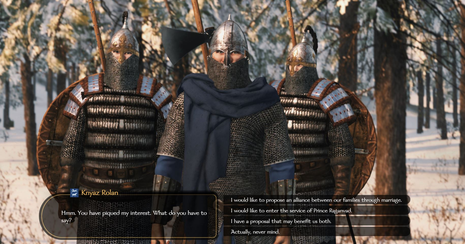 Marry off family members in Bannerlord
