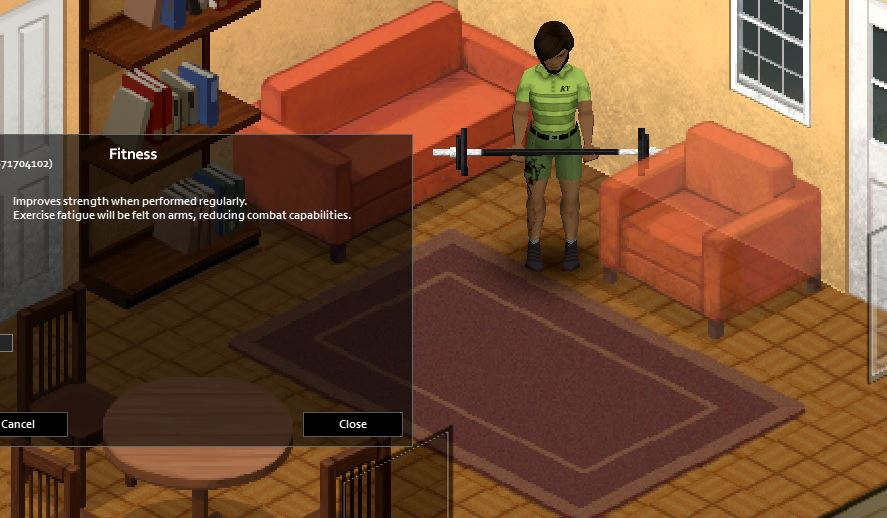 Barbell curls exercise in Project Zomboid will require a barbell