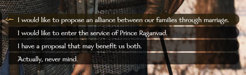 Propose an alliance in Bannerlord