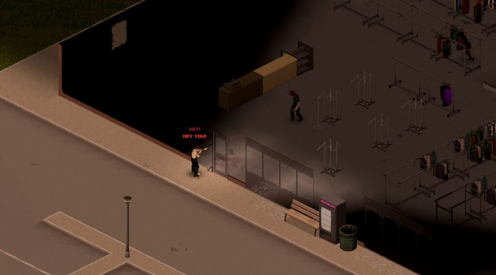 using the yell to clear houses in project zomboid