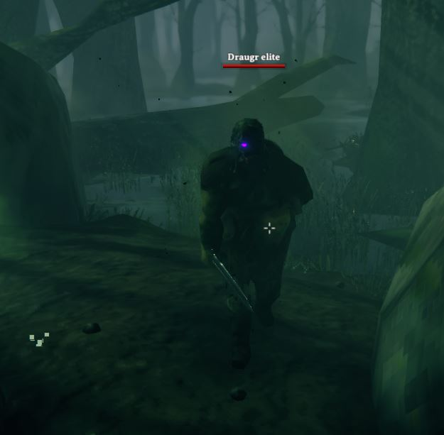 The Draugr Elite enemy which can be found in the swamps of Valheim
