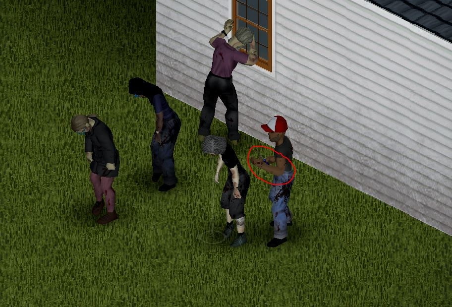 Showing the timing of a sneak attack in project zomboid