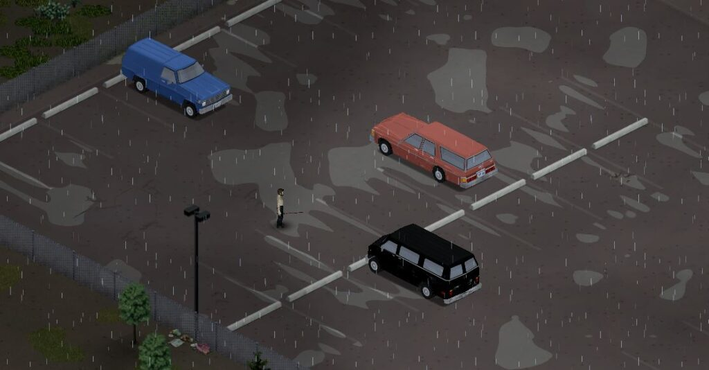 Finding a car in Project Zomboid