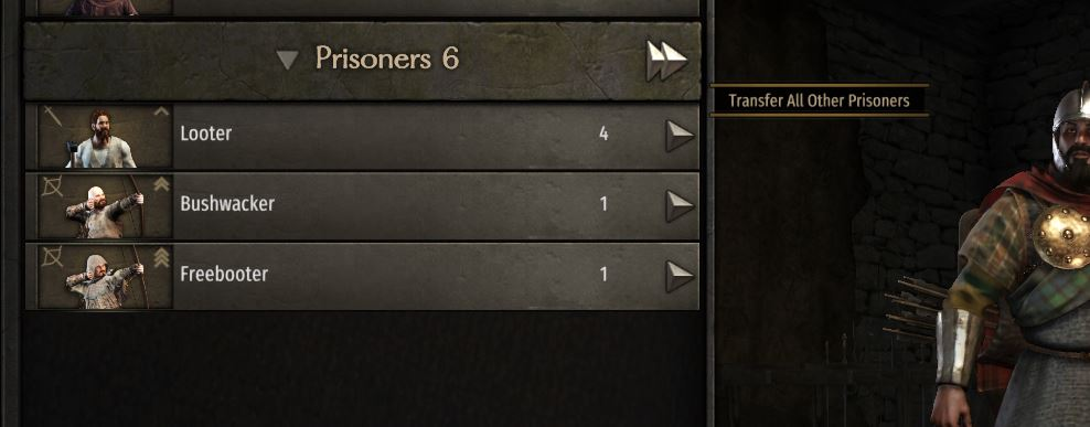 Taking prisoners at the end of battle in Bannerlord