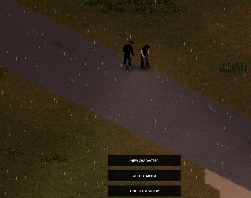 A character who has turned into a zombie after being bitten in Project Zomboid build 41