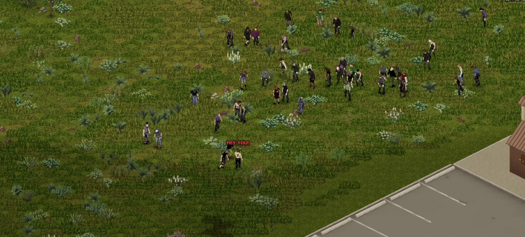 shouting in project zomboid