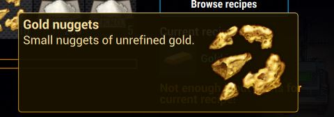 The gold nuggets in-game description from cryofall