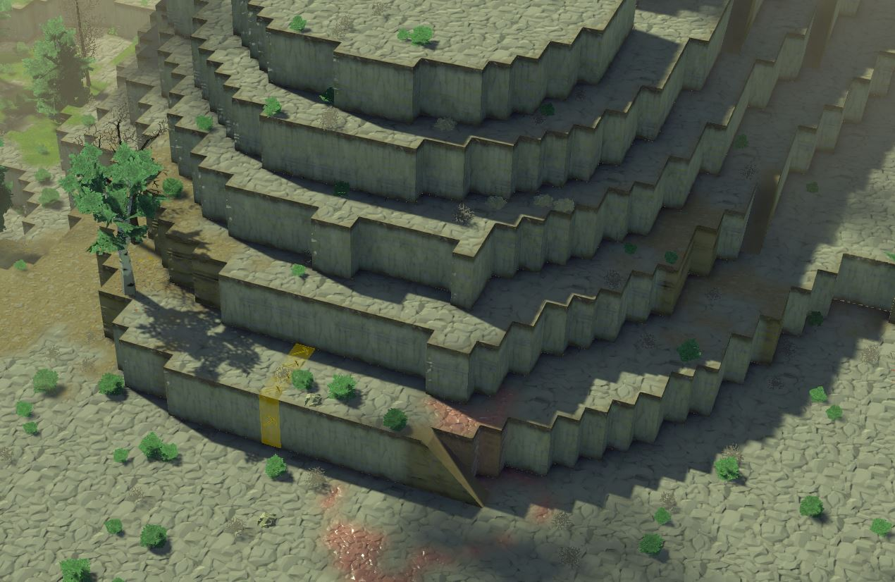 An undergound mountain base from Going Medieval